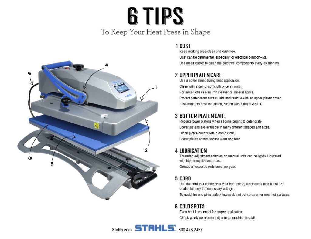Maintenance Tips for Your Heat Press Machine